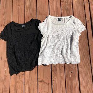2 Torrid Plus Size Lace Tops